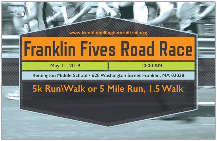 9th Annual Franklin & Bellingham Franklin Fives Road Race 5k & 5 Mile & 3.1 or 1.5 Mile Walk